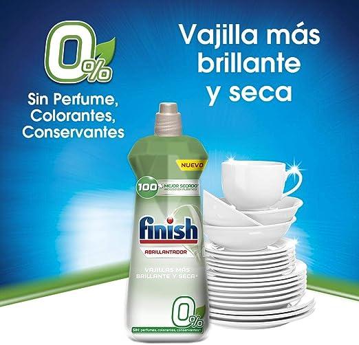 Finish 0% Abrillantador para Lavavajillas - 400 ml - 100 lavados ...