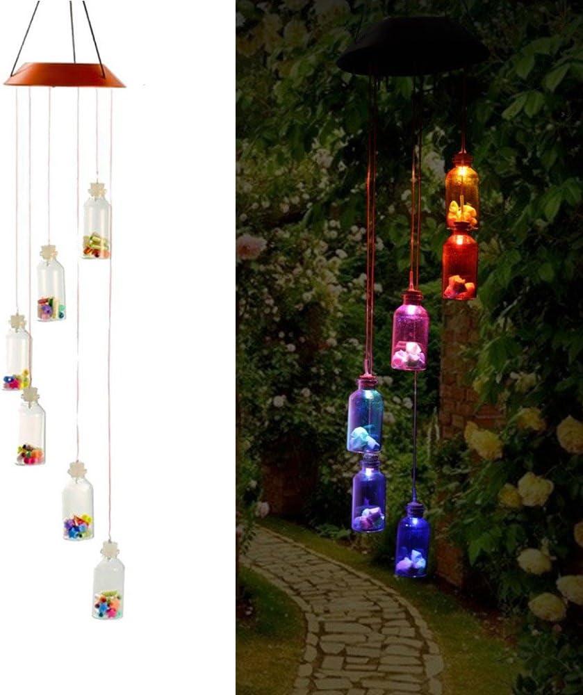 Efanty Balizas Solares Lucky Star Bottle 1 led Multicolor para Exterior, Jardín,Fiesta, Boda, Guirnalda, Decoración del árbol de Navidad: Amazon.es: Iluminación