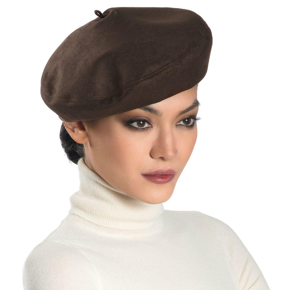 Eric Javits Luxury Fashion Designer Women's Headwear Hat - Betty - Brown by Eric Javits