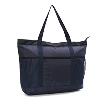 Amazon.com: Bolsa de playa grande – bolsa versátil con forro ...