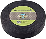 Country Brook Design 1 1/2 Inch Black Heavy Polypro Webbing, 25 Yards
