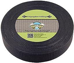 Country Brook Design 1 1/2 Inch Heavy Black Polypro Webbing, 25 Yards