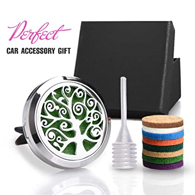 "CHIDRA Creative Tree Car Essential Oil Diffuser,1.2"" Aromatherapy Essential Oil Vent Clip,Fragrance Locket-Waterless & Wireless: Automotive"