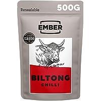 Ember Biltong Grootverpakking - Beef Jerky - Eiwitrijke Snack - (1x500g) (Chilli)
