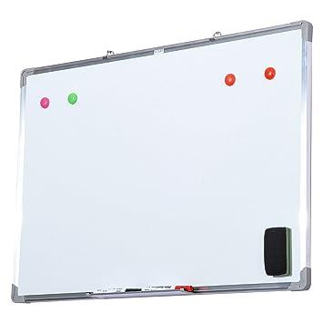 Homcom® Whiteboard magnético pizarra Pizarra Pizarra blanca ...