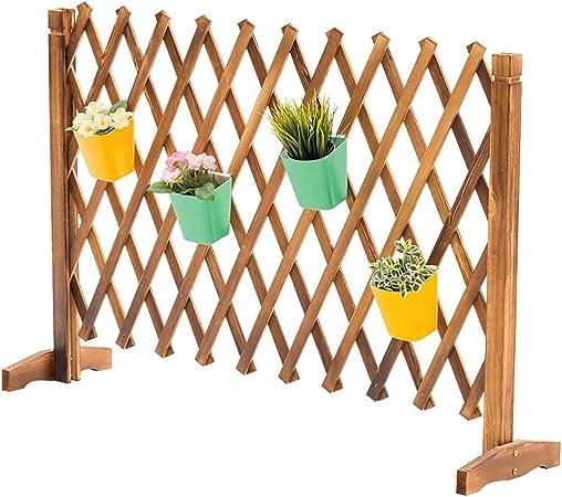 JF-HYWL Valla de Madera Valla de Jardín Decorativa Telescópica Planta Trepadora Ayuda Trellis Pet Nursery Fence 85 cm * (38~200 cm).: Amazon.es: Hogar