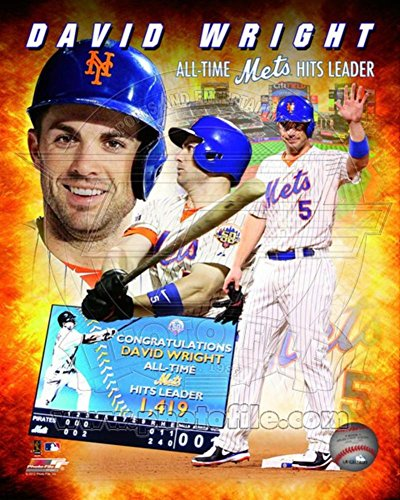 (David Wright New York Mets All-Time Hits Leader Composite Photo 8 x 10in)