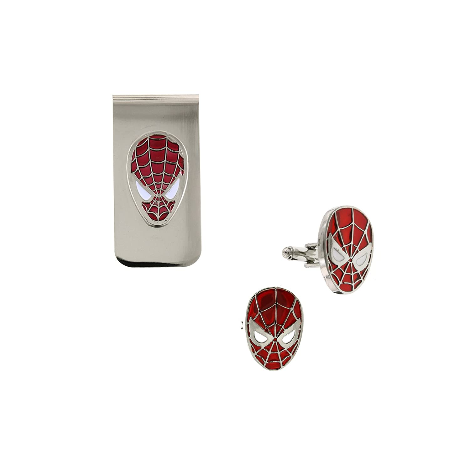 Spider-man Cuff Links and Money Clip Boxed Set Officially Licensed by MARVEL + Comic Con Exclusive