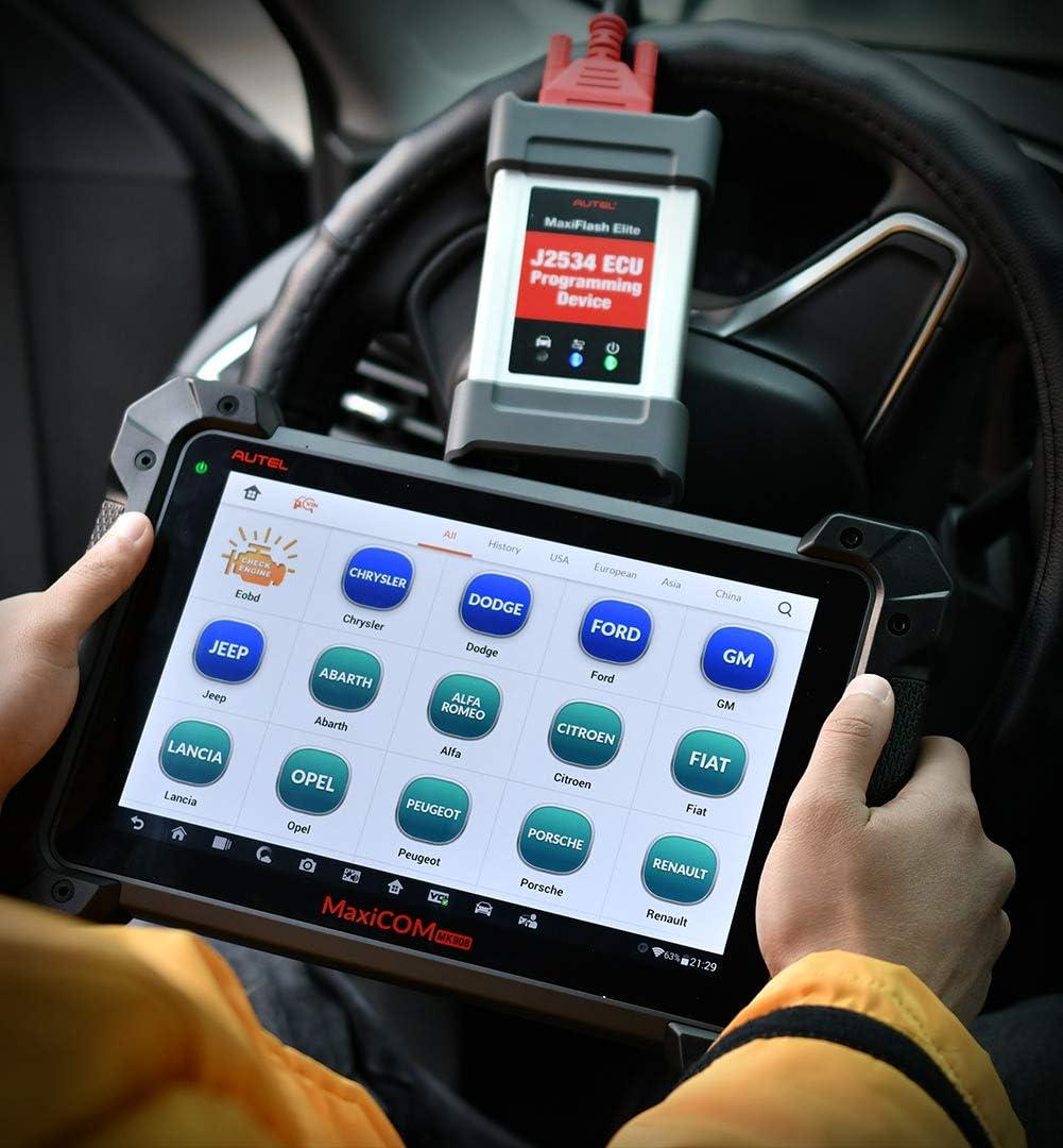 Versione aggiornata di MS908P Sistema Completo di diagnosi e Programmazione ECU J2534 con 1 Anno di aggiornamento Online Gratuito Scanner diagnostico bidirezionale per Auto Autel MaxiCOM MK908P