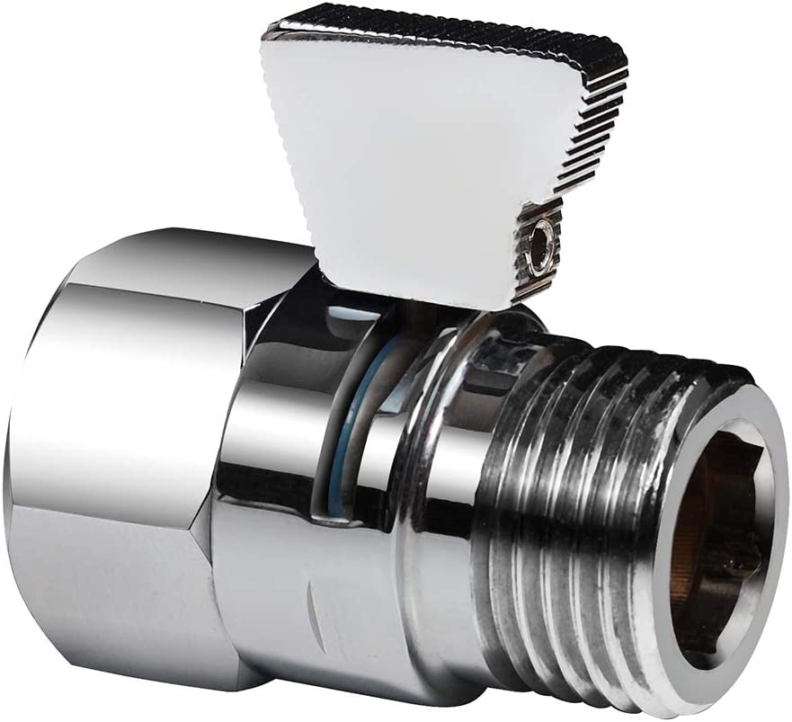Crown Shower Head Flow Control Valves Brass Shower Shut Off Valves for Shower head Water Pressure Control KA0001
