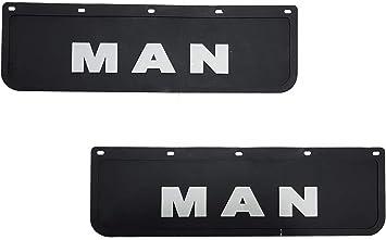 2 Stück Strapazierfähige Gummi Schutzbleche Schwarz Schmutzfänger Lkw Zubehör 60 X 18 Cm Auto