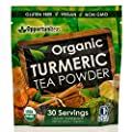 Organic Turmeric Tea | Matcha Green Tea + Turmeric + Cinnamon + Ginger + Black Pepper | Curcumin Powder Supplement | Gluten Free + Vegan + Non GMO | 30 Servings