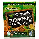 Organic Turmeric Tea Powder – Matcha Green Tea, Turmeric, Cinnamon, Ginger, Black Pepper – Natural Joint Support Supplement For Juice, Smoothie & Drinks – Vegan, Non-GMO & Gluten Free – 30 Servings Review