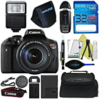 Canon EOS Rebel T6i DSLR Camera with 18-135mm Lens + Pixi-Basic Accessory Bundle