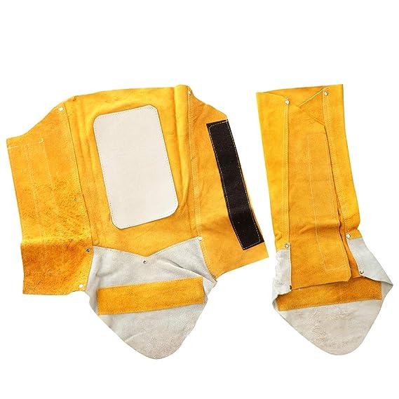B Blesiya Polainas de Soldadura Protección Zapato Soldador Accesorio de Equipamiento Industrial: Amazon.es: Bricolaje y herramientas