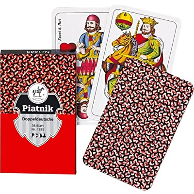 "Piatnik 1885 ""Double German Flush Card Game (36-Piece): Toys & Games"