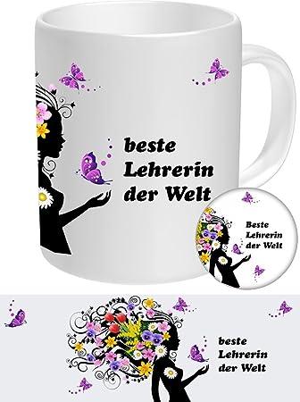 Lehrerin Set-02 - Geschenke Tasse & Sticker-Button Geschenk ...