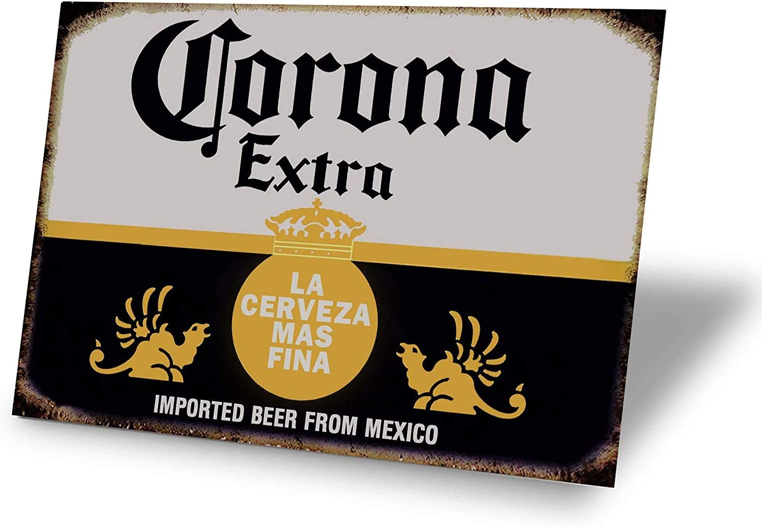 MUPIANLX Retro Vintage Tin Sign, Corona Beer from Mexico, Home Bar Man Cave Decor, 8