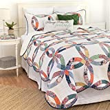 C&F Home 82113.2TSET Heritage Wedding Ring Twin 2Piece Cotton Quilt Set,Multicolor,Twin