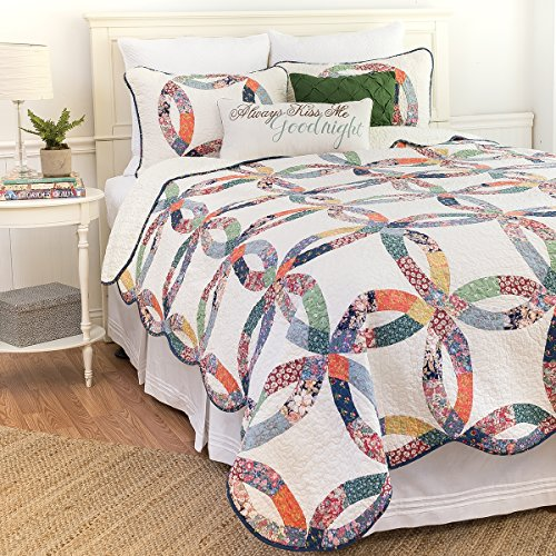 C&F Home 82113.2TSET Heritage Wedding Ring Twin 2Piece Cotton Quilt Set,Multicolor,Twin by C&F Home