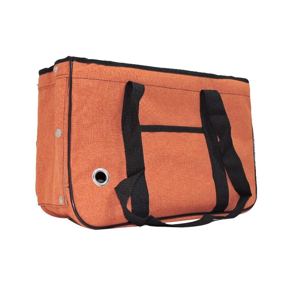 orange Medium orange Medium Go Pet Club Soft Crate Bag,Designed for Travel,Outdoor Use,Cat Puppy Small Pets (color   orange, Size   M)