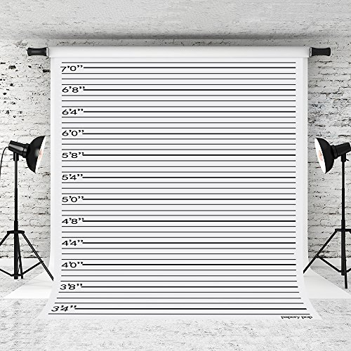 (Little Lucky 5x7ft Police Lineup Photography Backdrops Black line Photo Background for Photographer Children Prop Shoot)