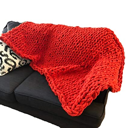 Amazon Com Chunky Knit Blankets Red Giant Knit Throw Blanket Extra
