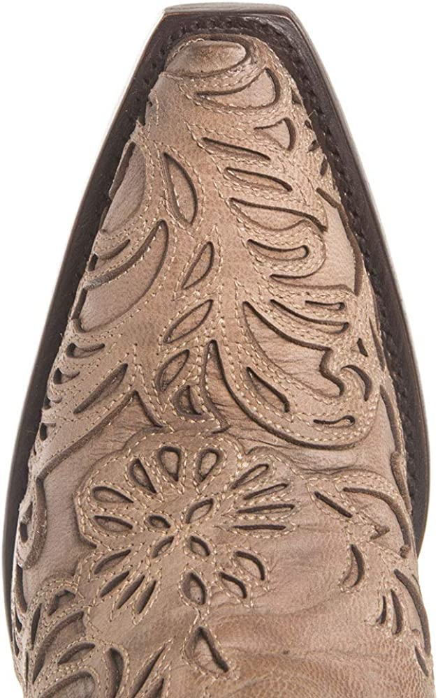 Corral G1388 Bone Embroidered Laser Cut Boots