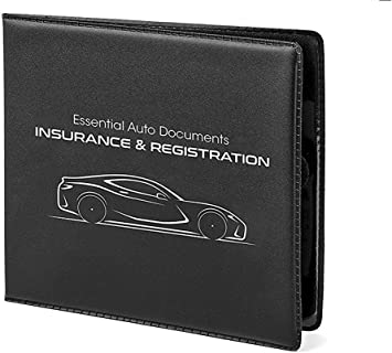 Truck CANOPUS Registration and Insurance Card Holder for Cars: Wallet for Auto Ez Pass Strips 2 Pack with EZ Pass Mounting Kit Trailer