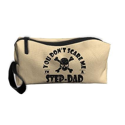 5ce6e1b0fd Amazon.com   You Dont Scare Me Im A Step-Dad Toiletry Bag ...