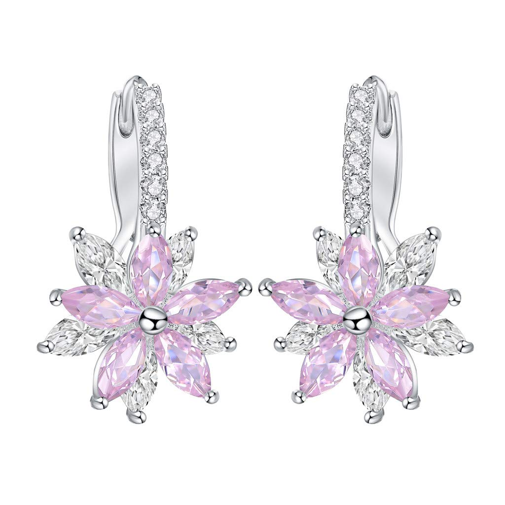Toponly Gorgeous Austrian Cut Crystal Rhinestone Pierced Wedding Bridal Teardrop Drop Dangle Earrings