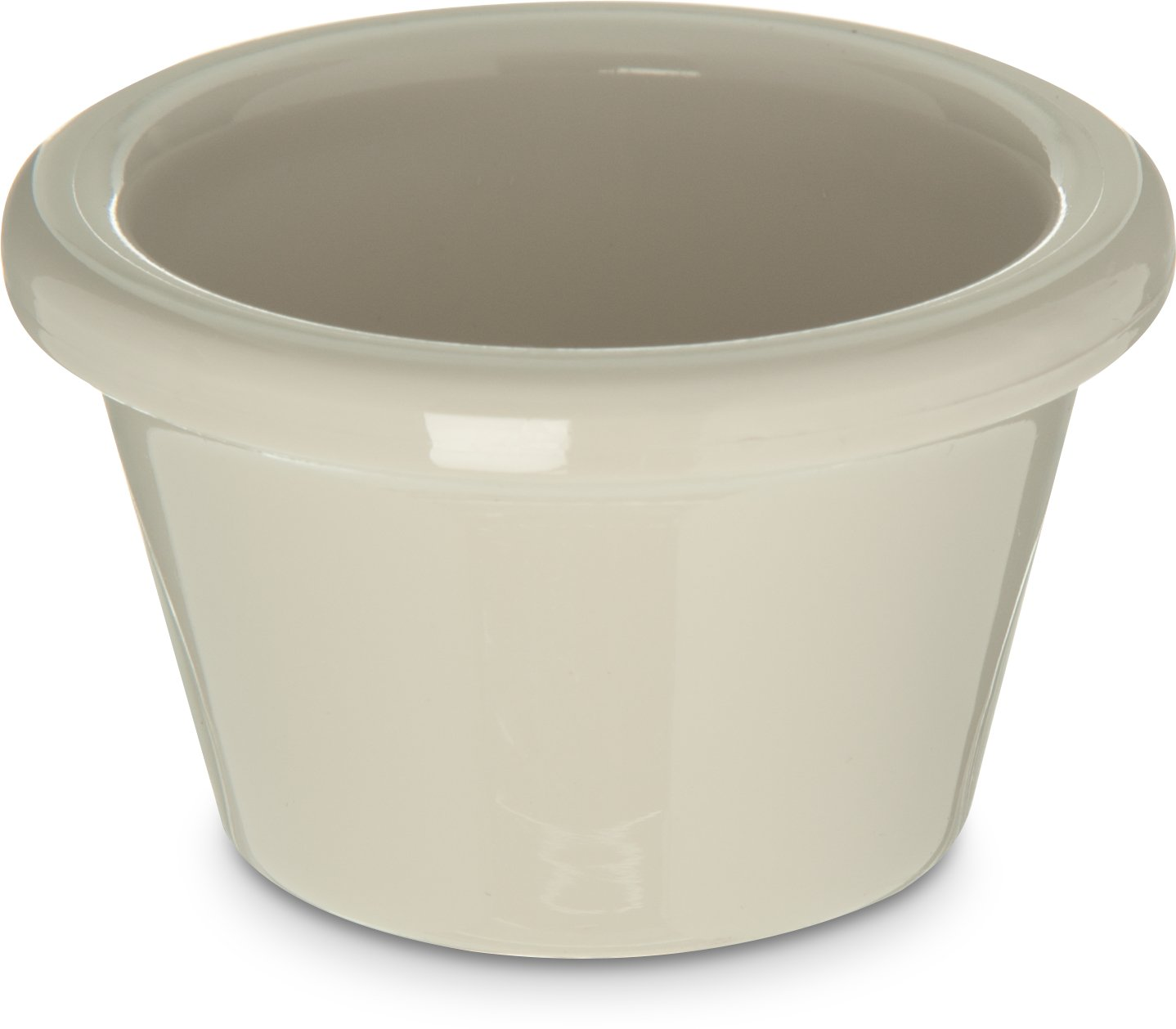Carlisle 4312142 SAN Smooth Ramekin, 1.5-oz. Capacity, 1.43 x 2.49'', Bone (Case of 48)