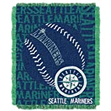 MLB Seattle Mariners 46 x 59-Inch Double Play Jacquard Triple Woven Throw