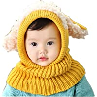 RETUROM Bebé pañuelos de cuello, Moda de invierno nuevo bebé encantadora linda woolen Cofia de la capilla de la bufanda…