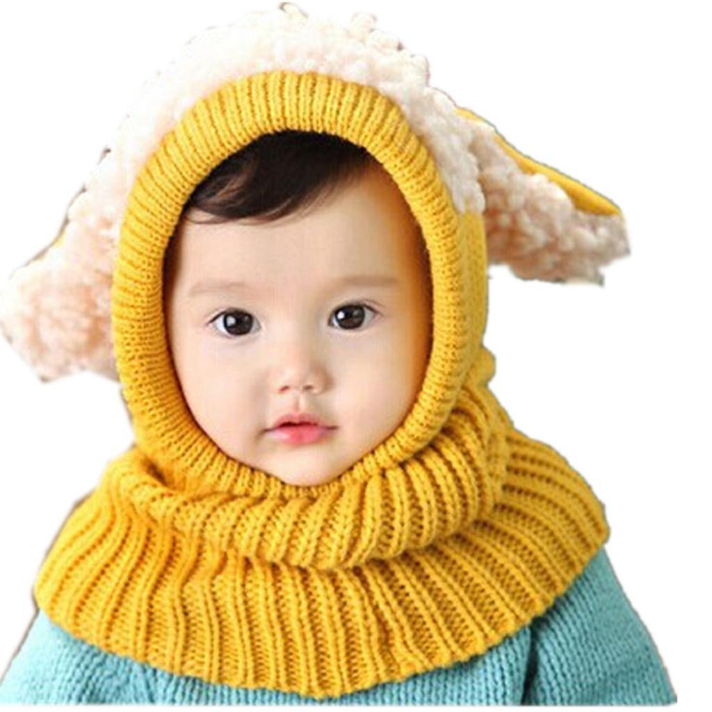 nuevo estilo del invierno del oto/ño muchachas de los muchachos impresi/ón del collar del beb/é de la bufanda hecha punto anillo de O Pa/ñuelos RETUROM Beb/é pa/ñuelos de cuello