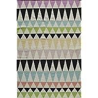 Momeni Rugs LAGUALG-10MTI2380 Laguna Collection, 100% Wool Hand Woven Flatweave Contemporary Area Rug, 23 x 8 Runner, Multicolor