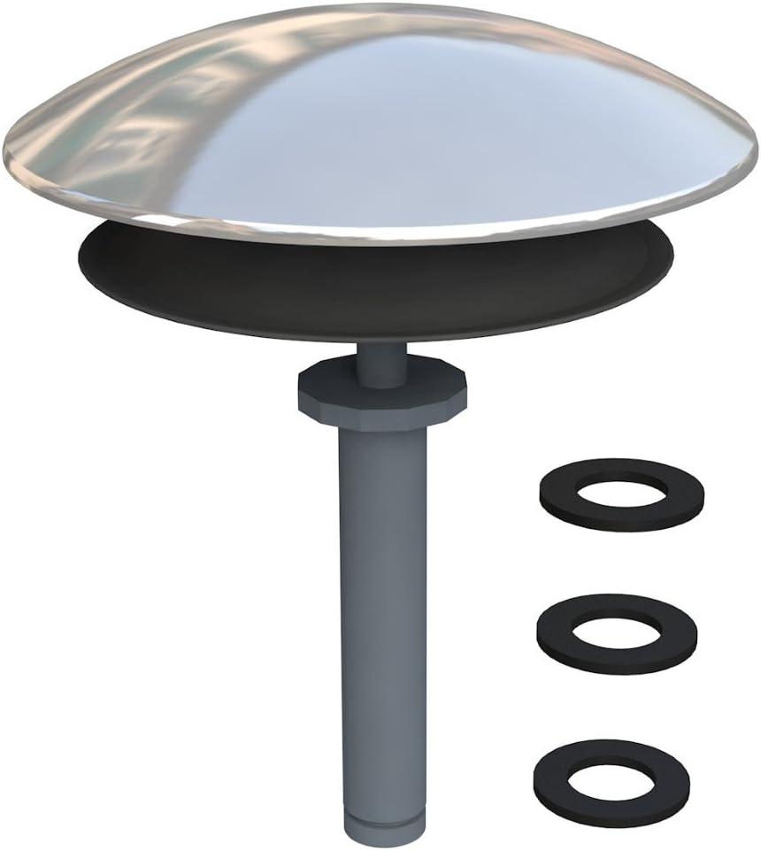 Bonomini - Tapon Bañera Universal - Para Reparar Desagües de Bañera Defectuosos - Accesorios Baño - Vástago 8-9mm - Cromado