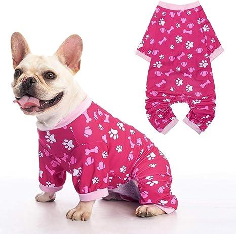enterizo camisa ropa de punto suave para cachorros pijamas a juego SELMAI Su/éter para mascotas para perros peque/ños gatos ropa de dormir
