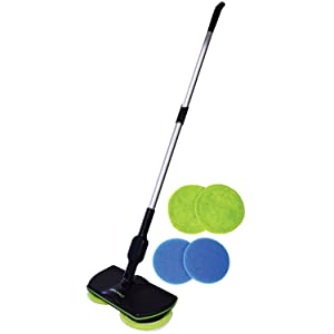 Zoom TV Spin Maid - Rechargeable, Cordless, Powered Floor Cleaner Scrubber Polisher Mop