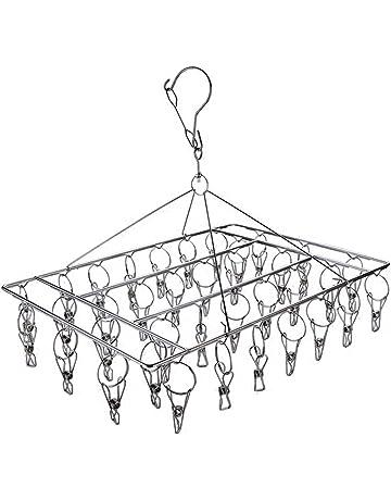 BoRui -Tendedero Calcetines Tendedero de acero inoxidable, de secado, para colgar accesorios,