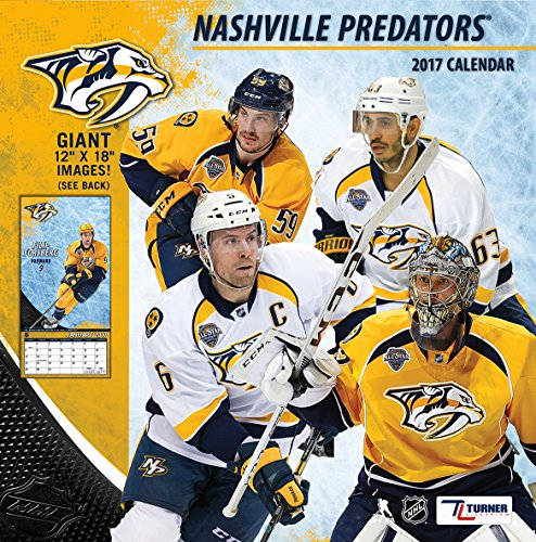 Turner Licensing Sport 2017 Nashville Predators Team Wall Calendar, 12