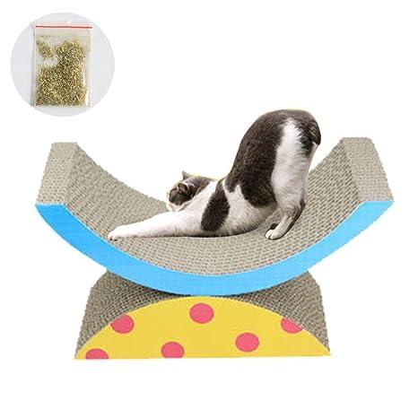 AOLVO Rascador para Gatos con Forma semicircular, Duradero y reciclable, para Gatos, rascadores