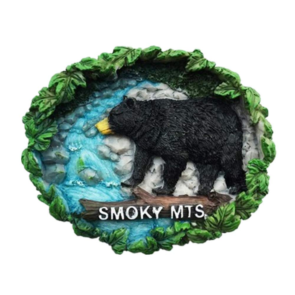 Refrigerator Magnets Resin 3D Funny Great Smoky Mountain Park Tennessee USA City Travel Souvenirs Fridge Stickers Magnetic Fridge Magnet for Whiteboard Home Kitchen Decoration Crafts Gifts