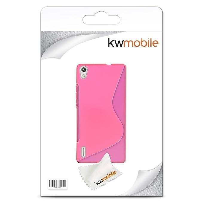Amazon.com: kwmobile Carcasa de silicona y TPU para HUAWEI ...