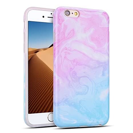 Mosoris Funda iPhone 6/6S, Marble Mármol Suave TPU Silicone Carcasa Goma Case Ultra Delgado Flexible Gel Caso Anti-Rasguños Patrón Granito Tapa Anti ...