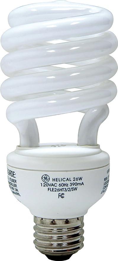 1-Pack GE Lighting 80890 Energy Smart Spiral CFL 26-watt 1700-Lumen T3 Light Bulb with Medium Base