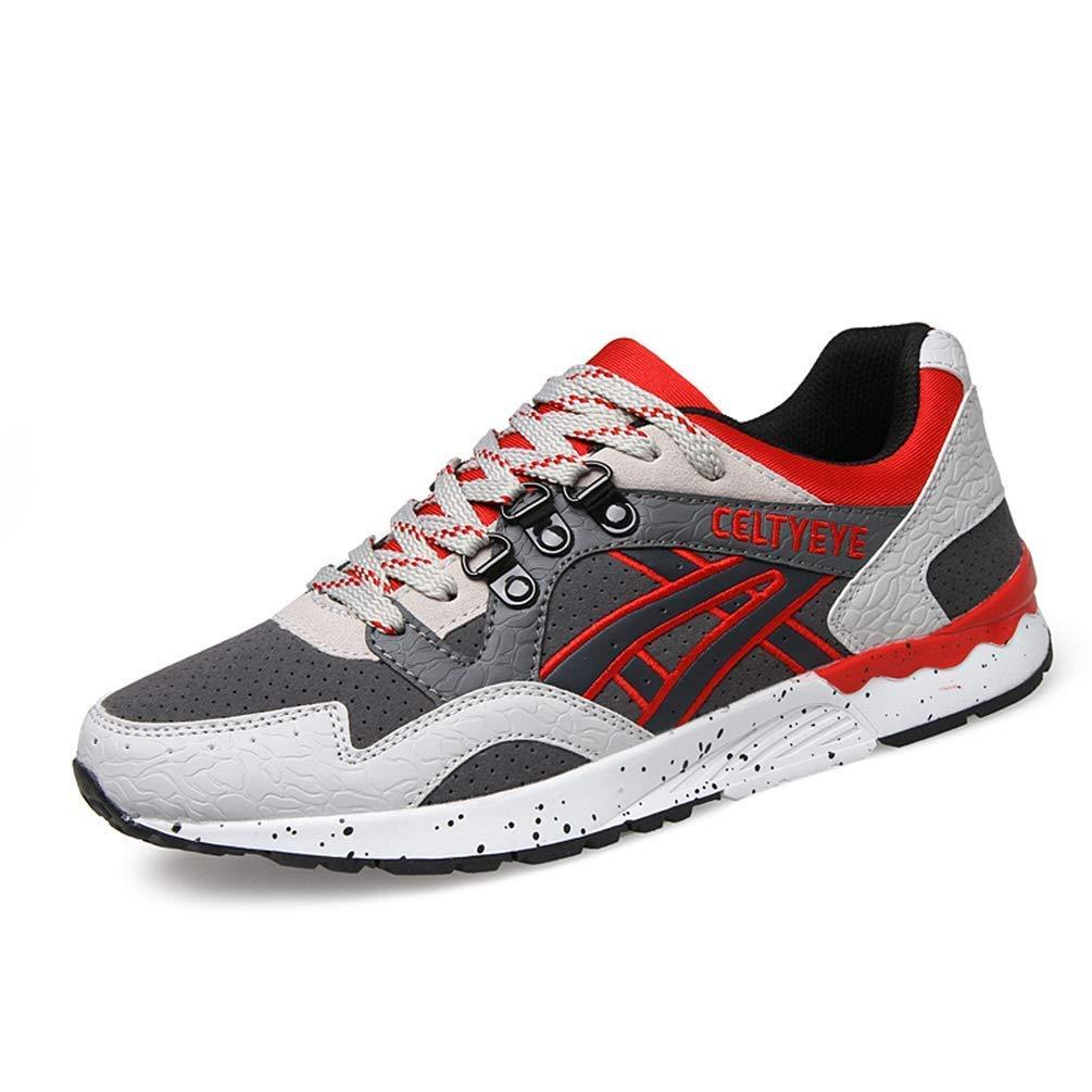ZHRUI Breathble Turnschuhe für den Mann Frühling Herbst Bequeme Schuhe Sport Laufschuhe für Männer (Farbe   Grau, Größe   5.5=39 EU)