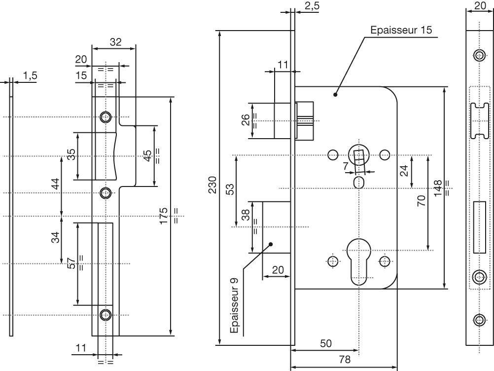 Achse f/ür Schlie/ßzylinder wei/ß Yale Y50/Einsteckschloss 40/mm