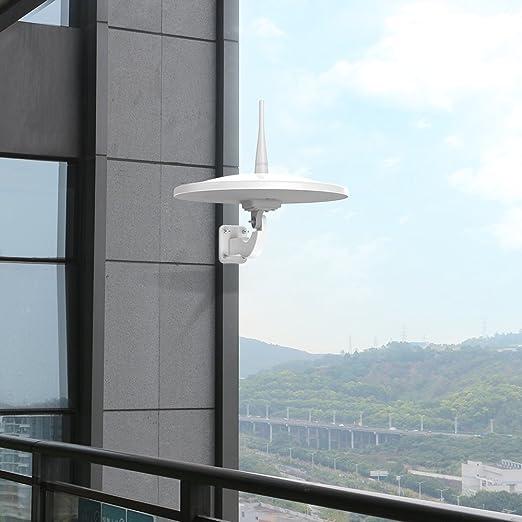 1byone Exterior HDTV Antena con Omni-Directional recepción de 720 Grados, 85 Millas ático/al Aire Libre/RV TV Antena amplificada para Mayor ...