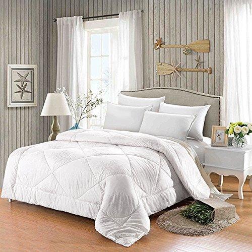Ammybeddings 5 PCS Blue Duvet Cover Set, Digital Print 3D Tiger, Full Size Luxury Decor Comforter Set 1 Duvet Cover, 2 Pillow Shams, 1 Flat Sheet and 1 White Comforter